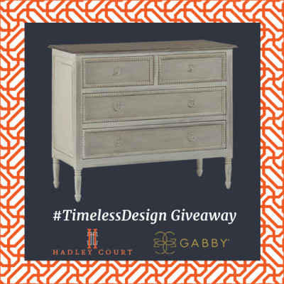 #TimelessDesign Giveaway Launch Day! WIN Gabby Home's CAROLINE Chest!