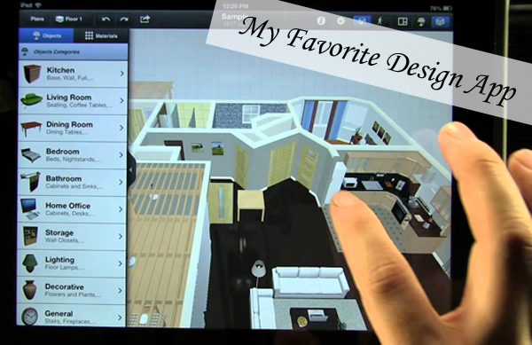 Save time my new fav 3d app interior design for the ipad for Interior design decoration app