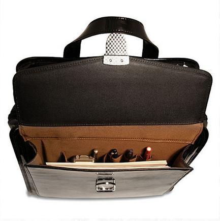 Milano briefcase interior