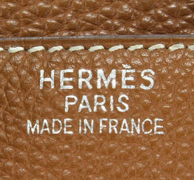 Hermes authentic stamp