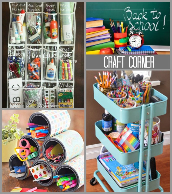 BTS ORGANIZED CRAFT CORNER Collage - Hadley Court Blog feature