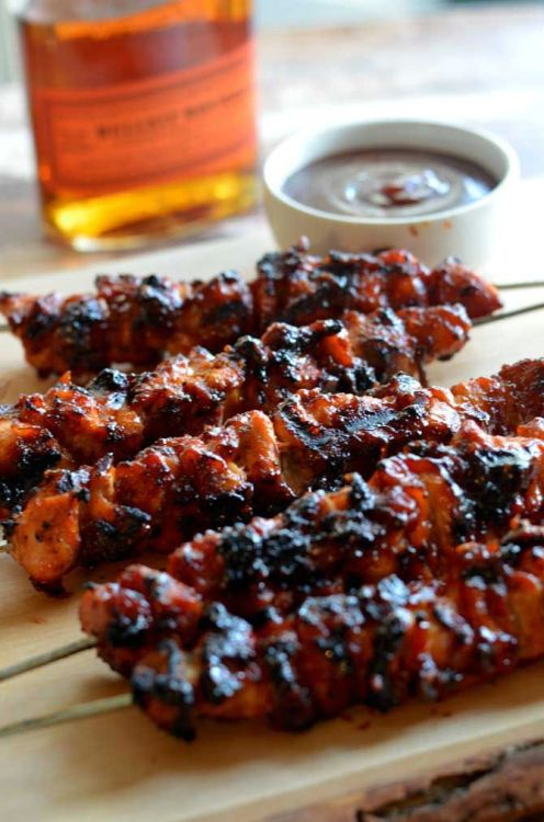 Bacon & Bourbon Chicken Skewers - TAILGATING TREATS TO TRY feature at Hadley Court Blog