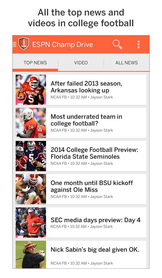 College Football App - ESPN Champ Drive