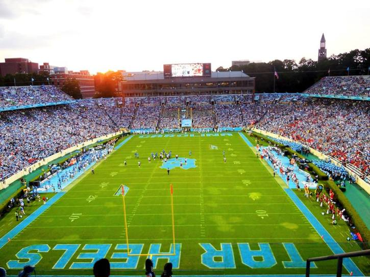 NC Tarheels Football Field Photo