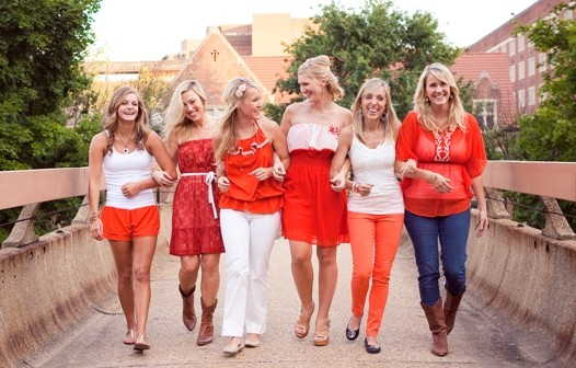 Red and White game day fashion photo