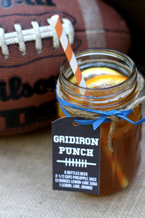 Gridirn Punch - TAILGATING TREATS TO TRY feature at Hadley Court Blog