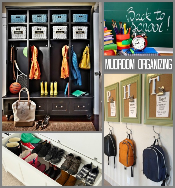 MUDROOM ORGANIZING COLLAGE - BTS ORG FEATURE - Hadley Court Blog