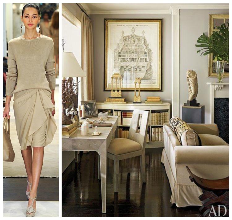 PANTONE CONGNAC - RL PreFall - AD Writing Desk - Timeless Design - Fashion & Decor Collage Lynda Quintero-Davids