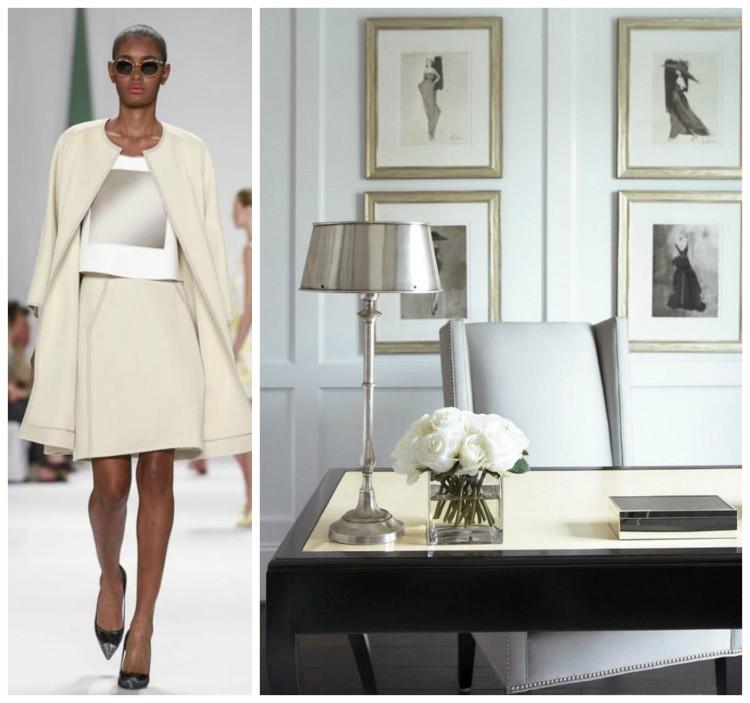PANTONE GLACIER GREY - NEW TRADITIONAL - POLISHED - TIMELESS Office Workspace - Fashion & Decor Collage - Lynda Quintero-Davids