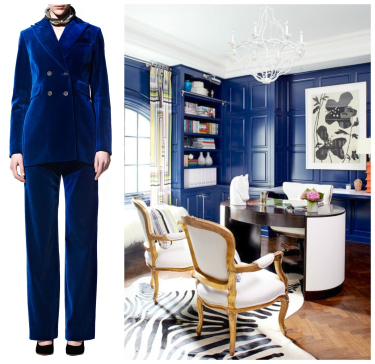 PANTONE ROYAL BLUE - FOR WALL AS LUX AS VELVET - GO LACQUER - Fashion & Decor Collage Lynda Quintero-Davids