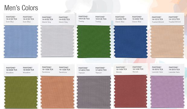 Pantone Top Runway Colors for Spring Summer 2015 MENS