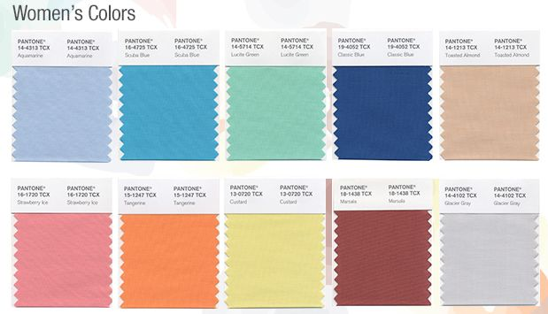 Colors Pantone 2015 Pantone Top Runway Colors For