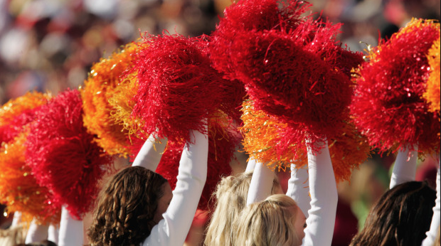 Game day - College Football Cheerleaders photo