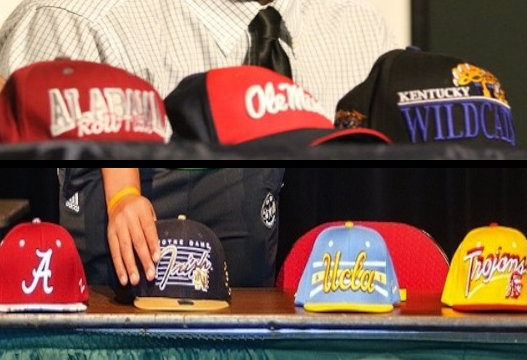 College Football Hats Pic