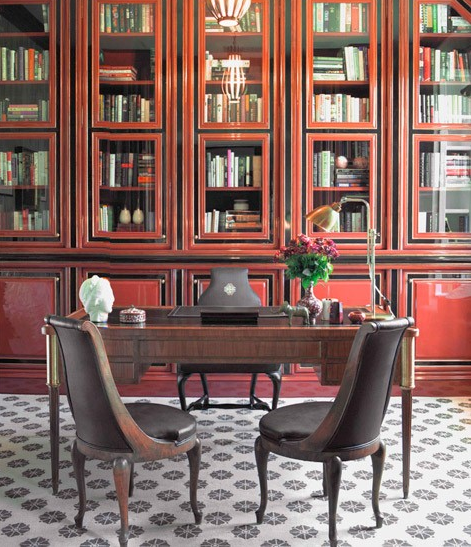 home office designed by Kelly Wearstler