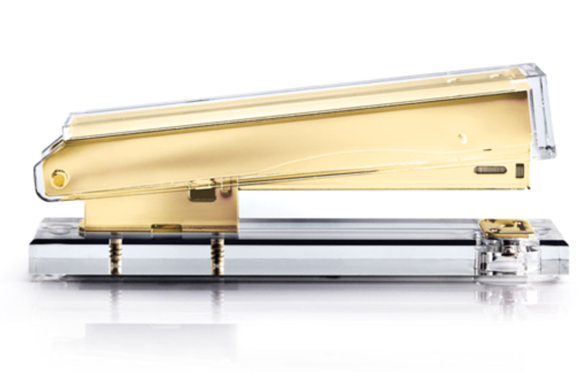 Gold plated stapler