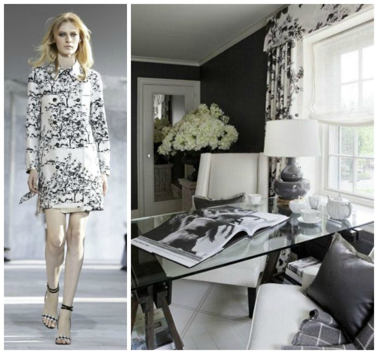 TRANSLATING TRENDS - B&W CHINOISERIE SS15 - Joel Woodard Office - Fashion & Decor - Collage Lynda Quintero-Davids