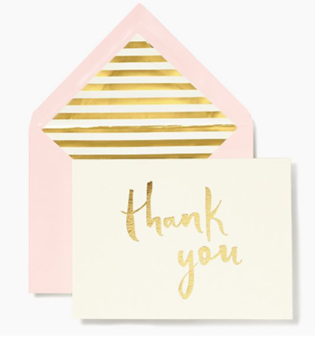 Gold Thank You Notes