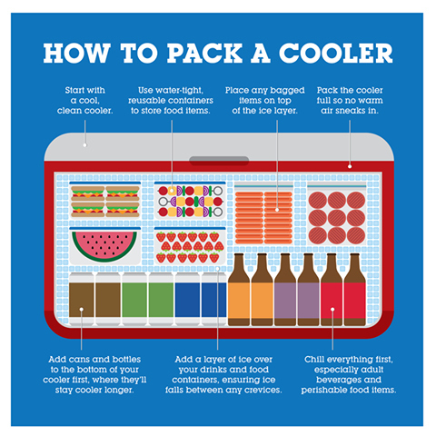 how to pack a cooler - buzzfeed