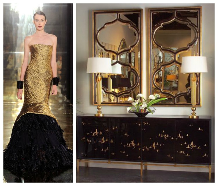ANTIQUED GOLD AND NOIR - F&D for John Richard - Hadley Court Blog - by Lynda Quintero-Davids