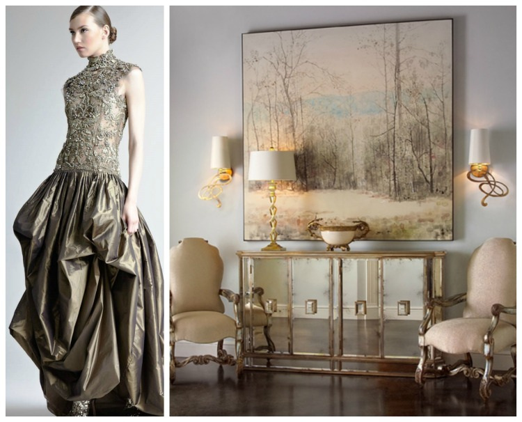 John Richard furniture paired with beautiful dress design photo