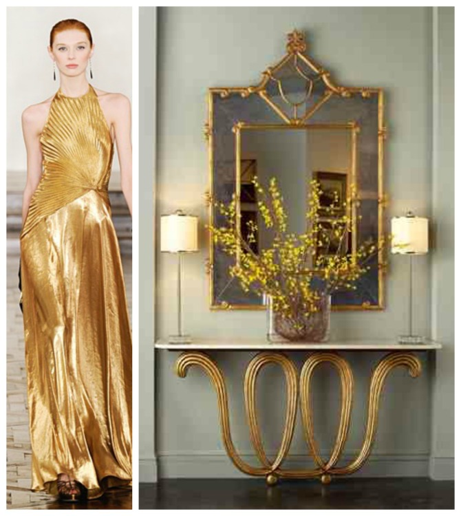 Gilded Flutes & Pleats Collage - F&D for John Richard - Hadley Court Blog - by Lynda Quintero-Davids