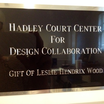 The Dedication of the Hadley Court Center For Design Collaboration At The Bienenstock Furniture Library