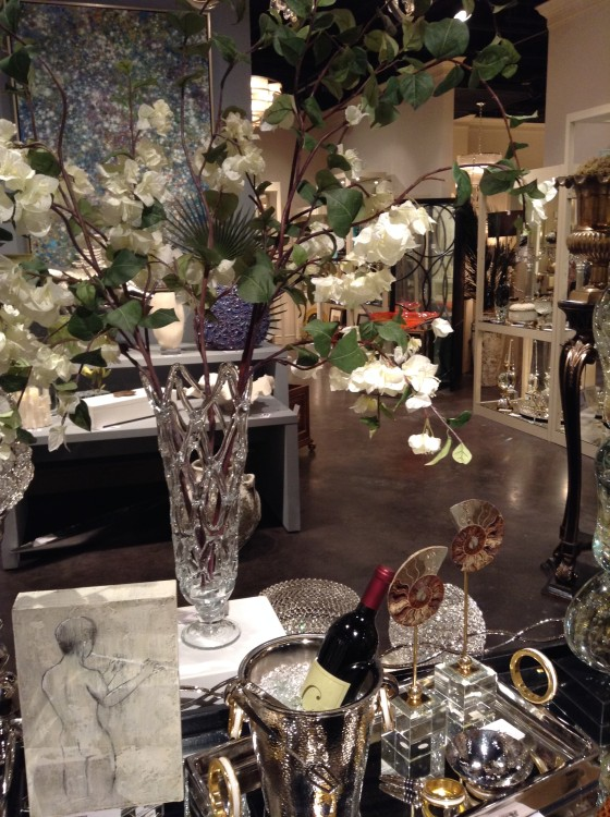 Photo of one vignette out of at least 30 in their showroom at High Point Market.