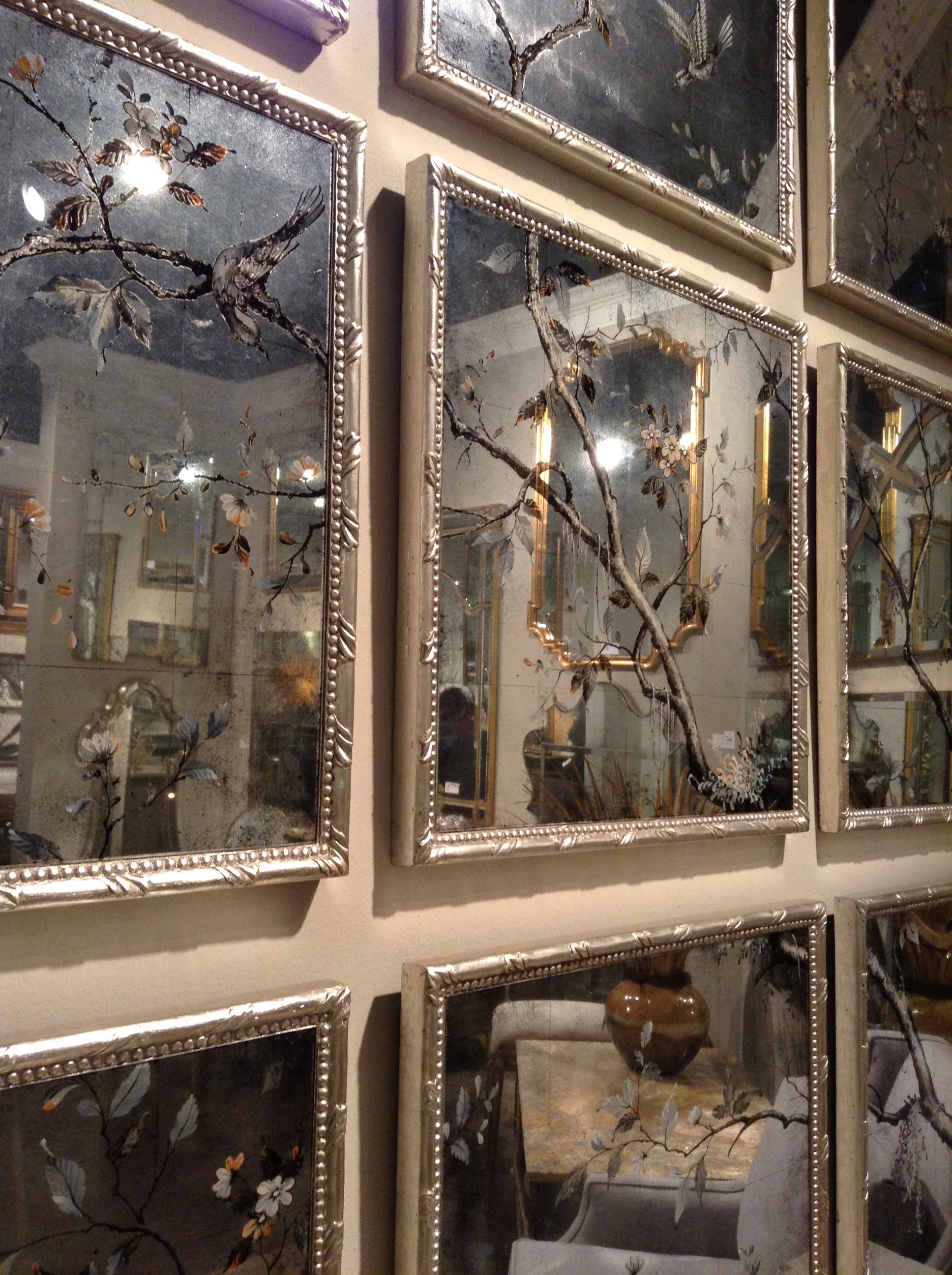 Pictures of some of the larger mirrors in the john richard collection