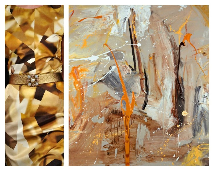 Picture Source Pairing - Oscar de la Renta - Abstracts Geo & Organic - Lynda Quintero-Davids for Hadley Court