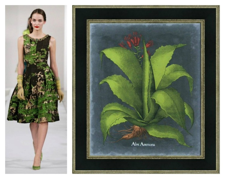 Picture Source Pairing - Oscar de la Renta - Shades of Green - Lynda Quintero-Davids for Hadley Court