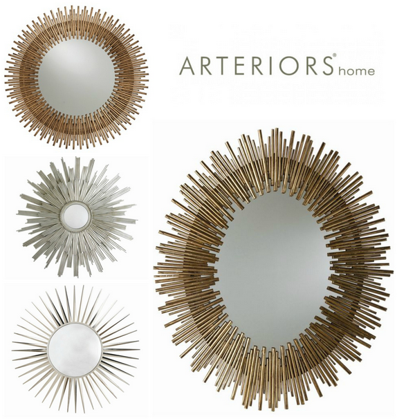 Arteriors home sunburst mirrors