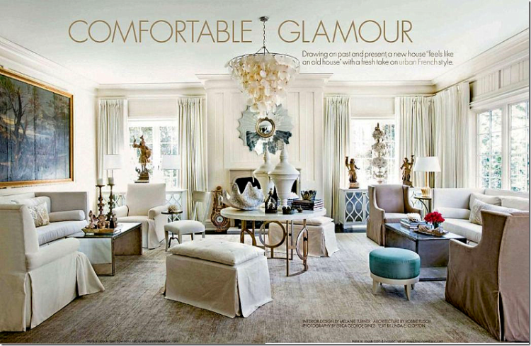 Comfortable Glamour magazine cover
