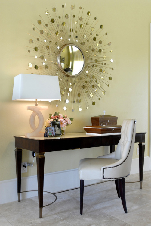 smaller starburst mirror styled by Tobi Fairley