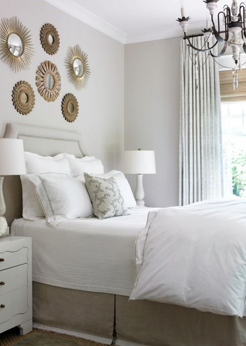 Our favorite sunburst mirrors interior design blog for Small neutral bedroom ideas