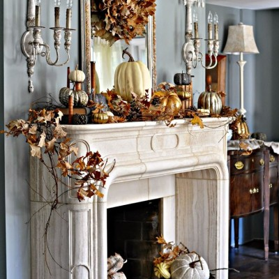 Inspiring Ideas For Fall Fireplace Mantel Decor!