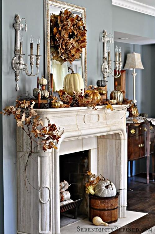 Luxury mantel decor
