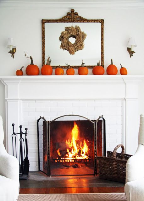 halloween fireplace mantel ideas