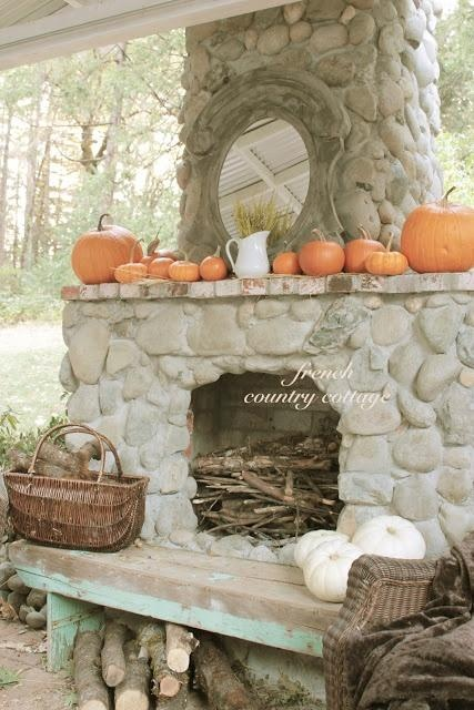 outside fireplace mantel decor