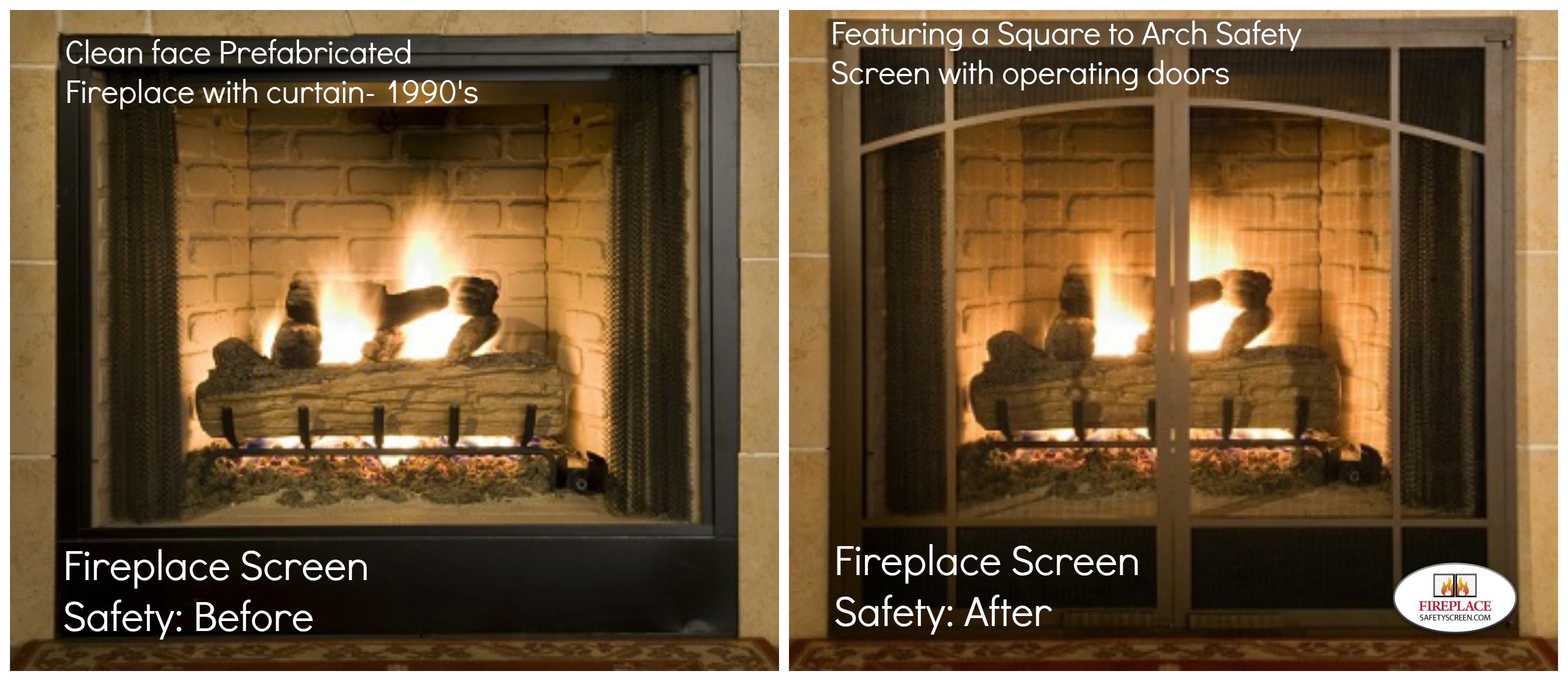 Beautiful fireplaces are made more stunning with screens that add a touch of elegance to any hearth and are also important for safety. See our favorites.