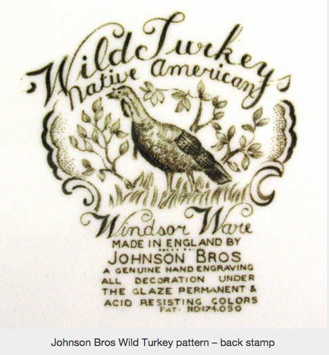 Johnson Bros Wild Turkey pattern