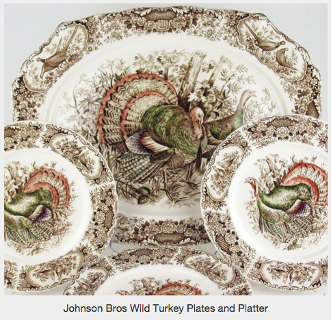 Turkey Platters And Thanksgiving Transferware Collections