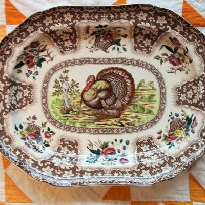 Collecting: Turkey Transferware Platters For Thanksgiving