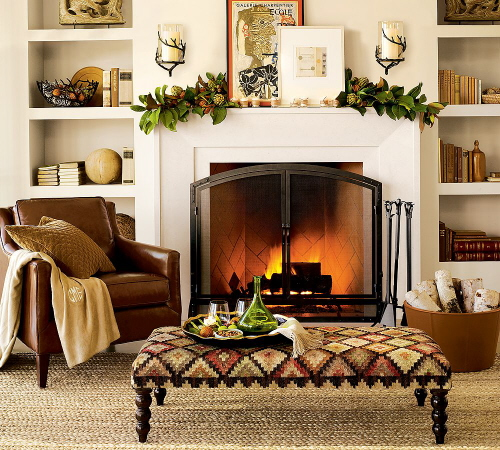 Fireplace Mantel Decor Ideas For Decorating Thanksgiving