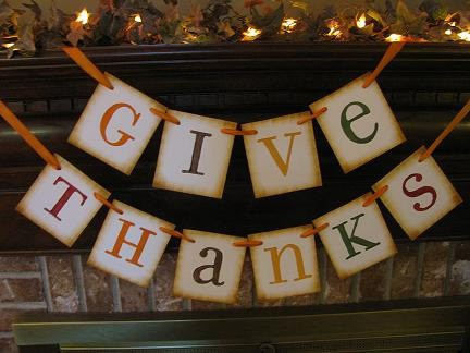 Thanksgiving fireplace mantel idea