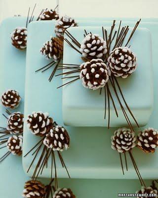 Pine Cone Christmas gift wrap