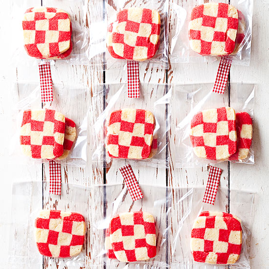 RED PLAID COOKIES - BHG