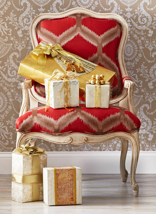 Beautiful christmas gift wrap