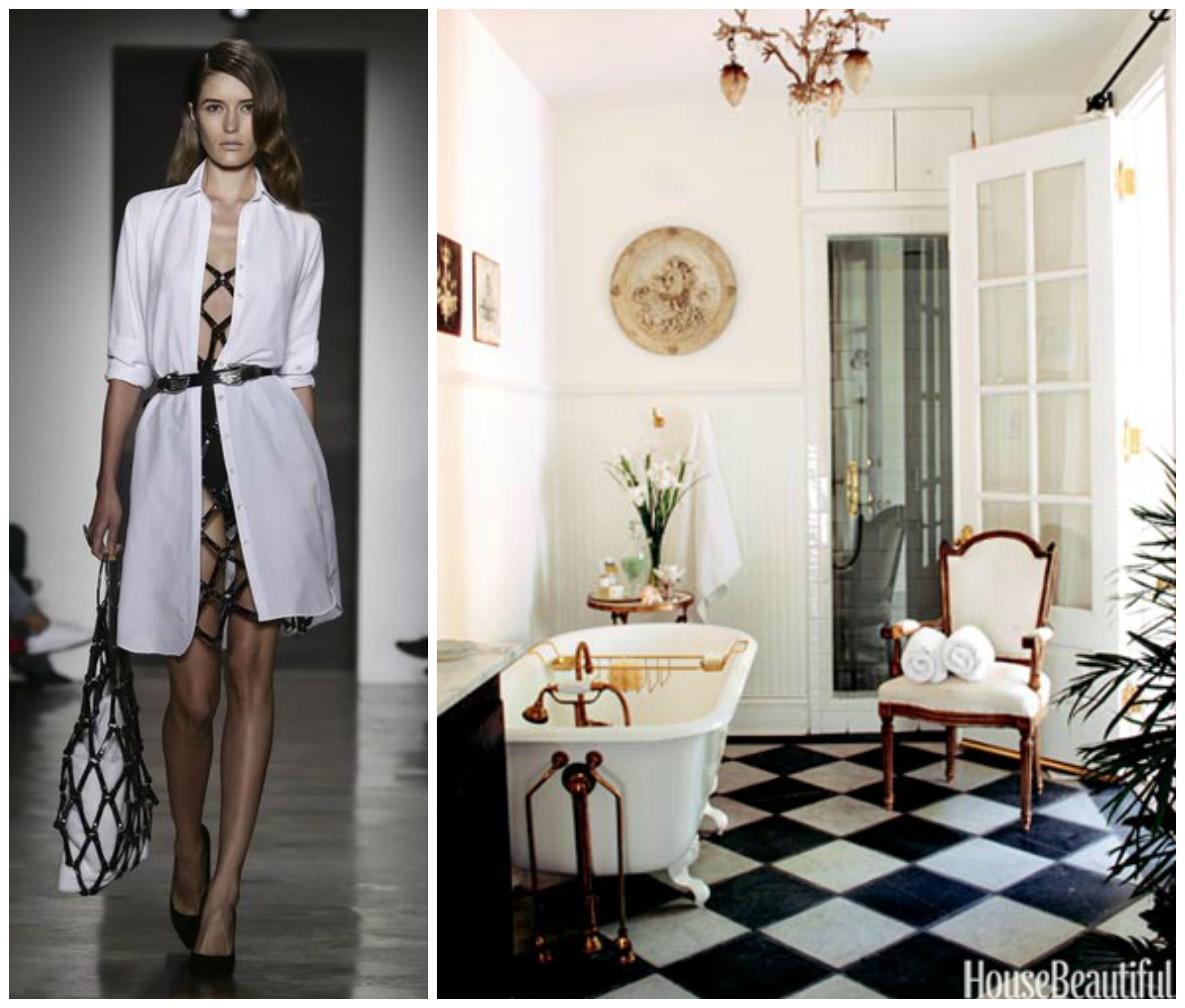 Inspiring! Couture Fashion Paired With Luxury Bathrooms