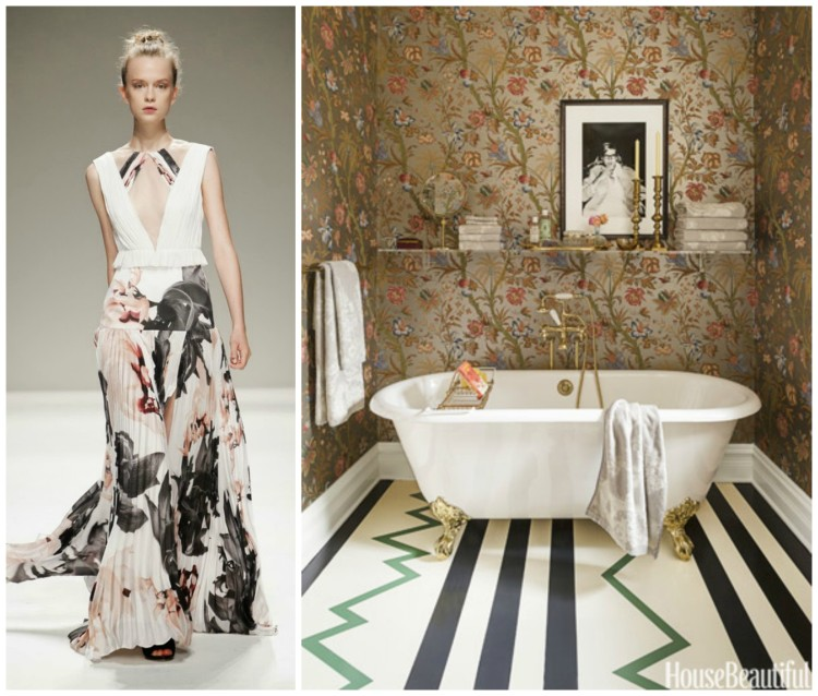 ELEGANT FASHION AND BATH DESIGN PAIRING collage 2 for Hadley Court Blog - by Lynda Quintero-Davids